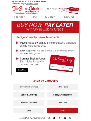 The Swiss Colony - Learn What Swiss Colony Credit Can Do for You