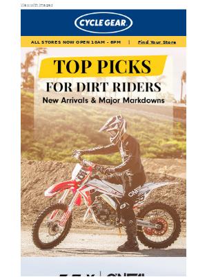 Cycle Gear - Dirt gear: MAJOR MARKDOWNS