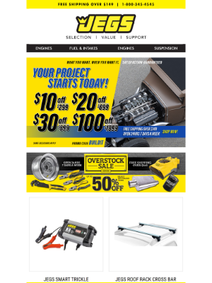 JEGS Performance - Tools and Garage Gear to Help Start Your Project Today!