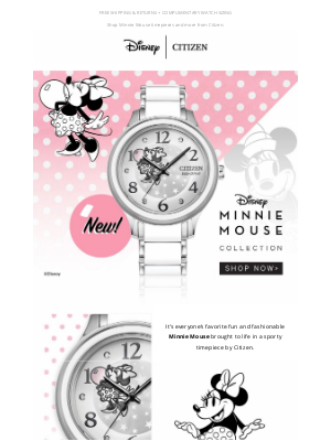 Citizen Watch Company - NEW Minnie Mouse Sport Timepiece for Fall