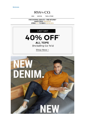 RW&CO. CA - The newest in denim + 40% off