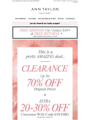 Clearance Up To 70% OFF + EXTRA 20-30% OFF (!!!)