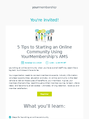 [Upcoming Webinar] 5 tips to starting an online community