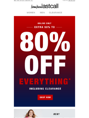 Neiman Marcus Last Call - Extra 50% to 80% off everything, including clearance!