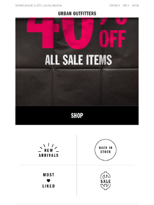Take an extra how much off sale items?!