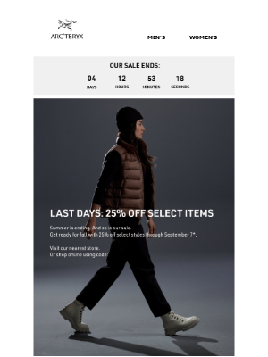 Arc'teryx - Labor Day Sale is Almost Over