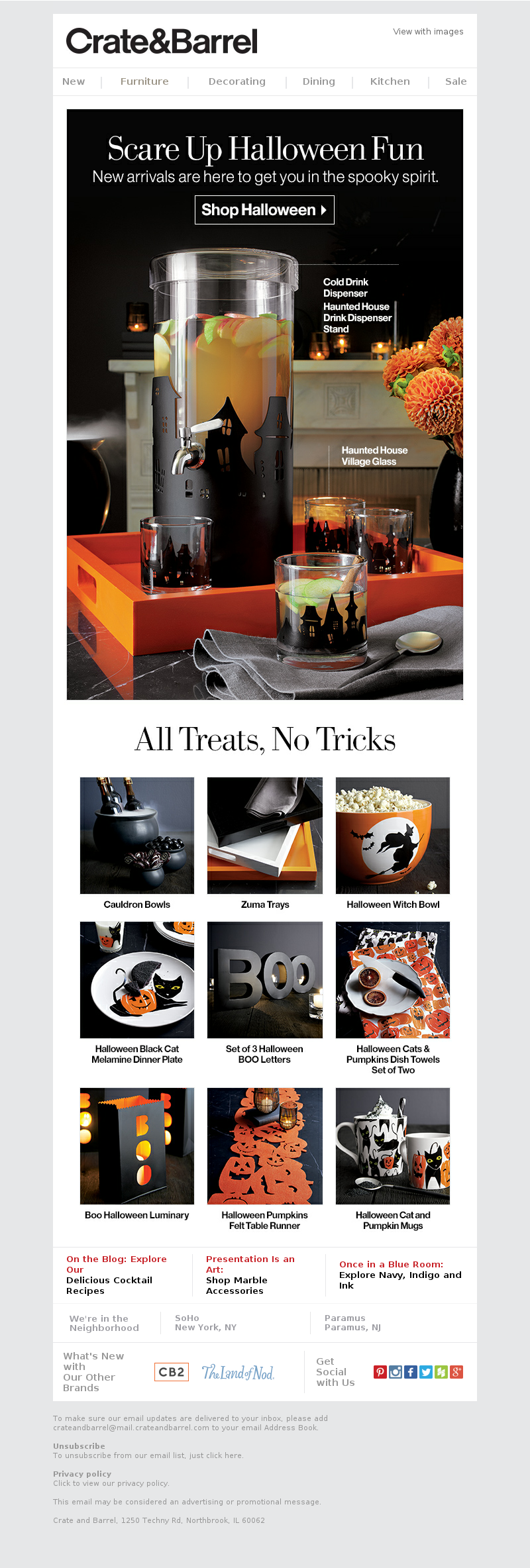 Never fear. Halloween arrivals are here. Crate&Barrel View with images New