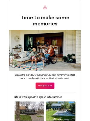 Airbnb - The vacation your family's been waiting for