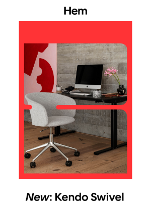 Hem - WFH dream team: Kendo Swivel and Alle Desks are here