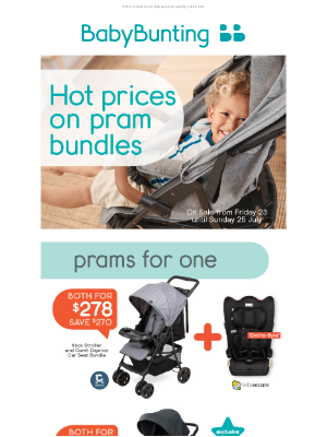 Baby Bunting (AU) - Don't miss out! These HOT pram offers end Sunday