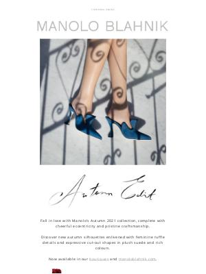 Manolo Blahnik - Autumn Focus: Cut-Out Details and Feminine Ruffles