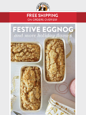 Free Shipping + A Festive Baking Flavor