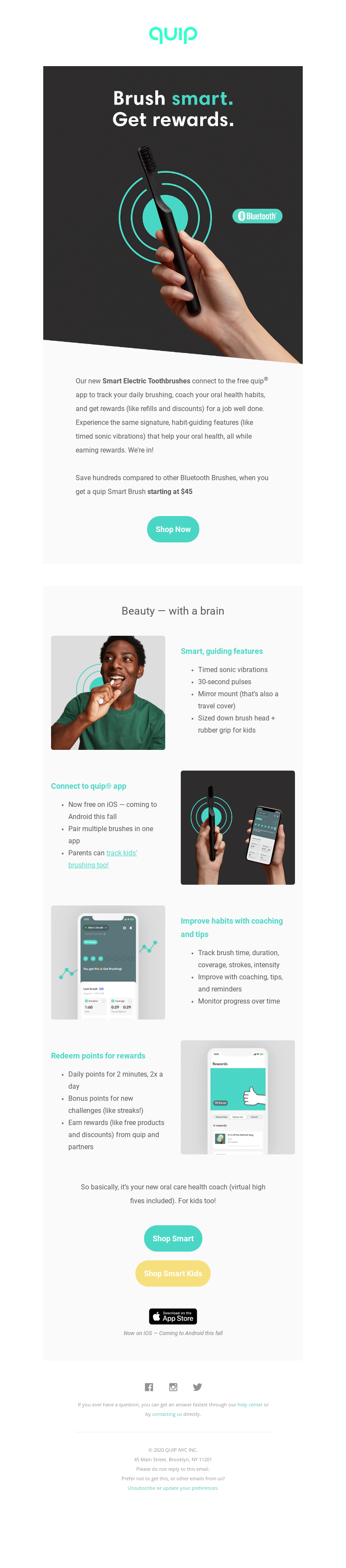 quip - Want rewards for brushing your teeth? Get Smart💰