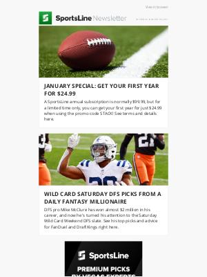 CBS Sports - Legendary expert reveals Wild Card Round best bets