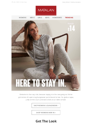 Matalan (UK) - Here to stay in.