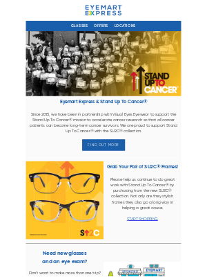 Eyemart Express - We're Standing Up To Cancer!