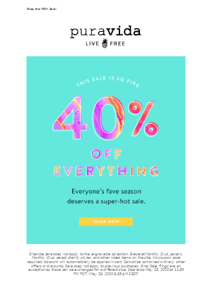 Sale so hot: 40% off 🔥🔥