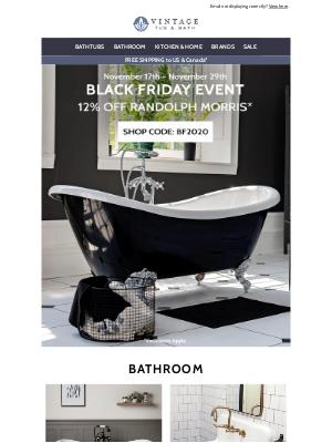Vintage Tub - Black Friday is ON