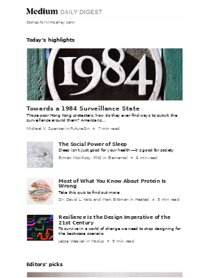 """""""Towards a 1984 Surveillance State"""" published in FutureSin by Michael K. Spencer"""