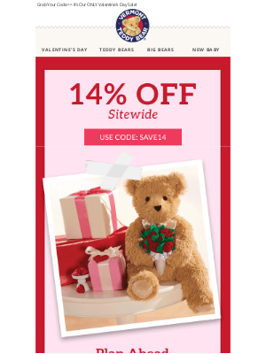 Vermont Teddy Bear - SAVE On The PAWfect Gift ❤️💕 This Weekend Only