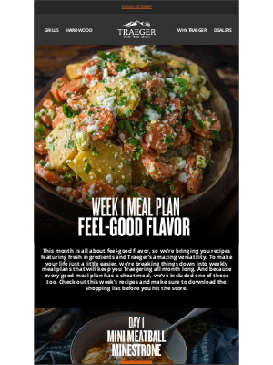 Traeger Grills - Feel-Good Flavor Meal Plan