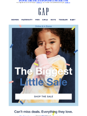 Gap (CA) - @everyone: you've got kids' styles from $10, but only until midnight