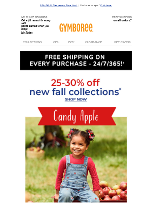 Gymboree - Perfect for every fall moment! 🍂 New collections 25-30% off! 🍎🚧