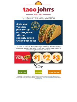 Taco John's - 🌮What's crispy + fresh and makes the whole family happy...
