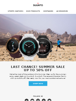 Last chance! Summer Sale up to 50% Off