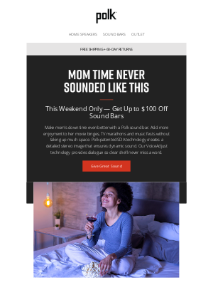 Polk Audio - Save up to $100 On Great Sound For Mom