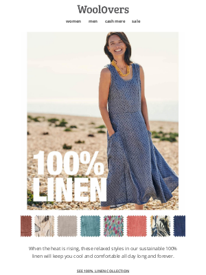 WoolOvers (UK) - Keep Cool In Linen.