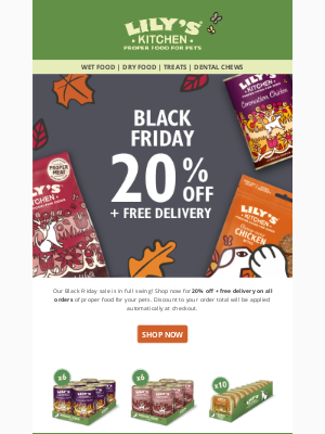 Lily's Kitchen (UK) - Black Friday - Approved by Pets🐶✅