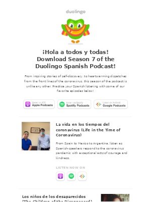 Duolingo - 🔊 Don't miss the latest season of the Spanish podcast!