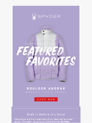 Spyder Active Sports - Our Top Fall Pick For Women!