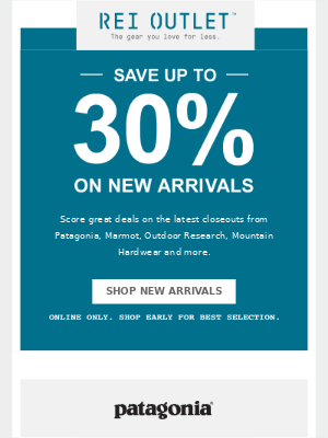 Save Up to 30% on New Arrivals