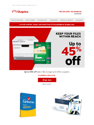 Staples - Organization goals? Up to 45% off inside.