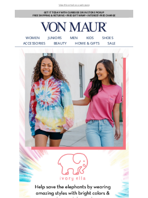 Von Maur - Let's Help Save the Elephants!