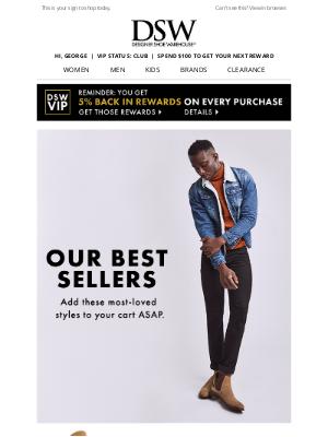 Designer Shoe Warehouse - Inside: best-selling boots just for George.
