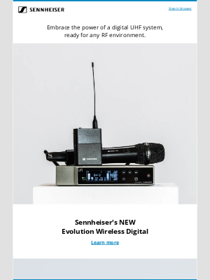 Sennheiser Electronic GMBH & Co. - Evolution Wireless Digital—Evolving with you.