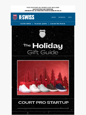 K-Swiss - Get Gifting: The Court Pro Startup