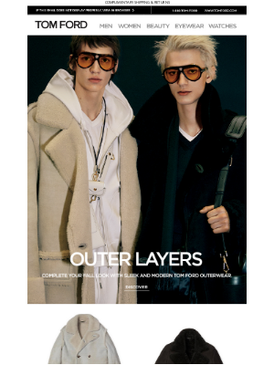 TOM FORD - OUTER LAYERS