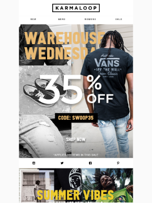 35% Off Vans |  Off the Wall prices on Footwear, Apparel & Accessories for Everyone!