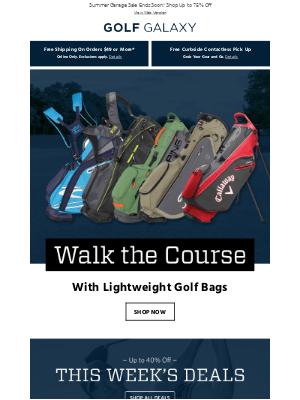 Lightweight Golf Bags from Callaway, Titleist & More