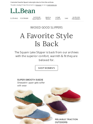 L.L.Bean - Wicked Good Slippers are Here