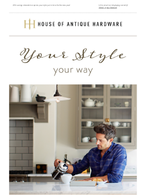 House of Antique Hardware - Your Style For The New Year