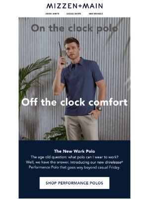 Mizzen+Main - The NEW Performance Polo is here
