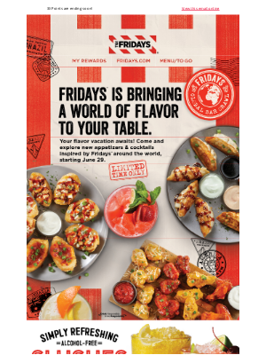 TGI Fridays - Exclusive Access: Are You Ready To Travel The World?