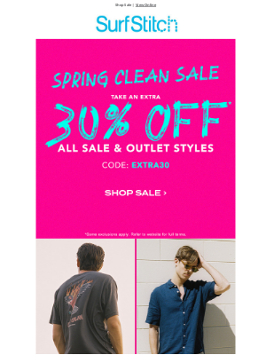 SurfStitch - ADD A FURTHER 30% OFF SALE ITEMS!