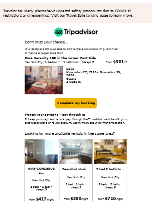 TripAdvisor - Book your rental while it's still available