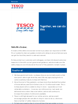 Tesco (UK) - A message from Tesco UK CEO Jason Tarry